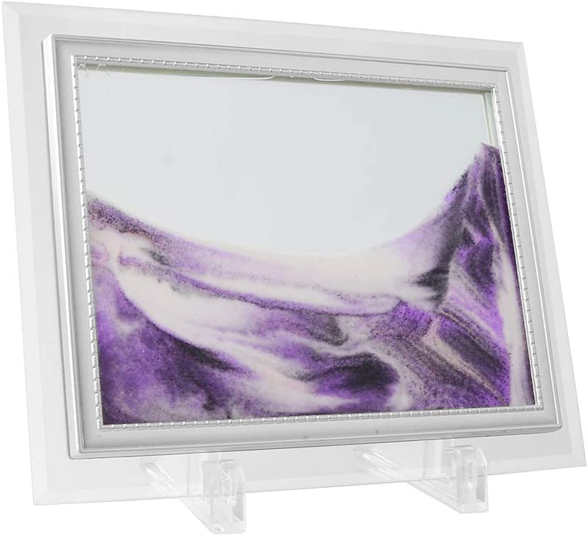 "Coitak Sandscape, Moving Sand Art Picture, Moving Desktop Art, Sand in Motion, Medium Size 9x7""(purple) (7x9inch, Purple)"
