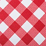 DII CAMZ38593 RED CHECK OUTDOOR TABLERUNNER