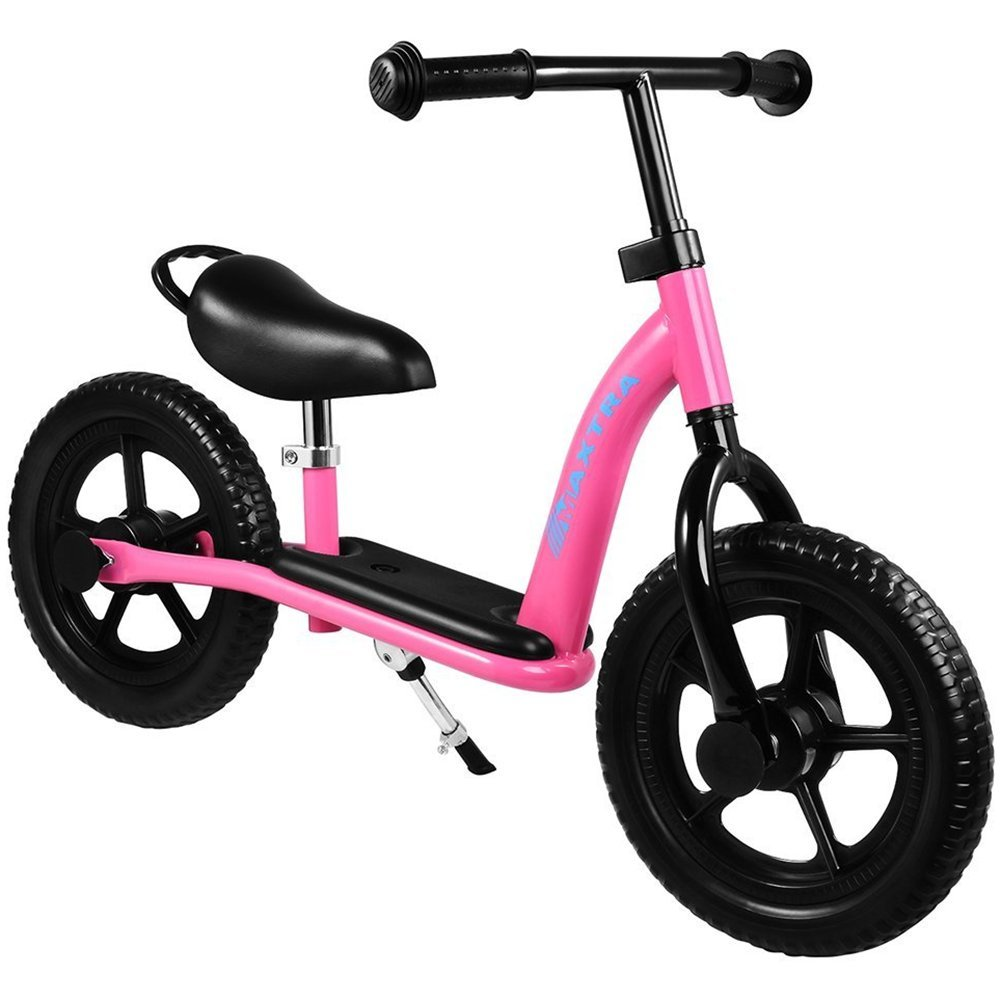 Maxtra 2019 Updated Balance Bike for Kids Lightweight Sports 12inch No Pedal Bicycle with Adjustable Handlebar and Seat for Ages 2 to 7 Years Old