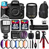 Holiday Saving Bundle for D810 DSLR Camera + 18-140mm VR Lens + Battery Grip + 6PC Graduated Color Filer Set + 2yr Extended Warranty + 32GB Class 10 Memory + Backpack - International Version