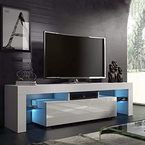 TV Stand Cabinet Shelves Entertainment Center Console Media Storage 2 Drawers US