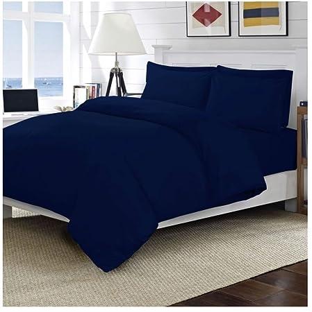 Lujo 100% sábanas de algodón egipcio hojas 200 hilos – solo (azul ...