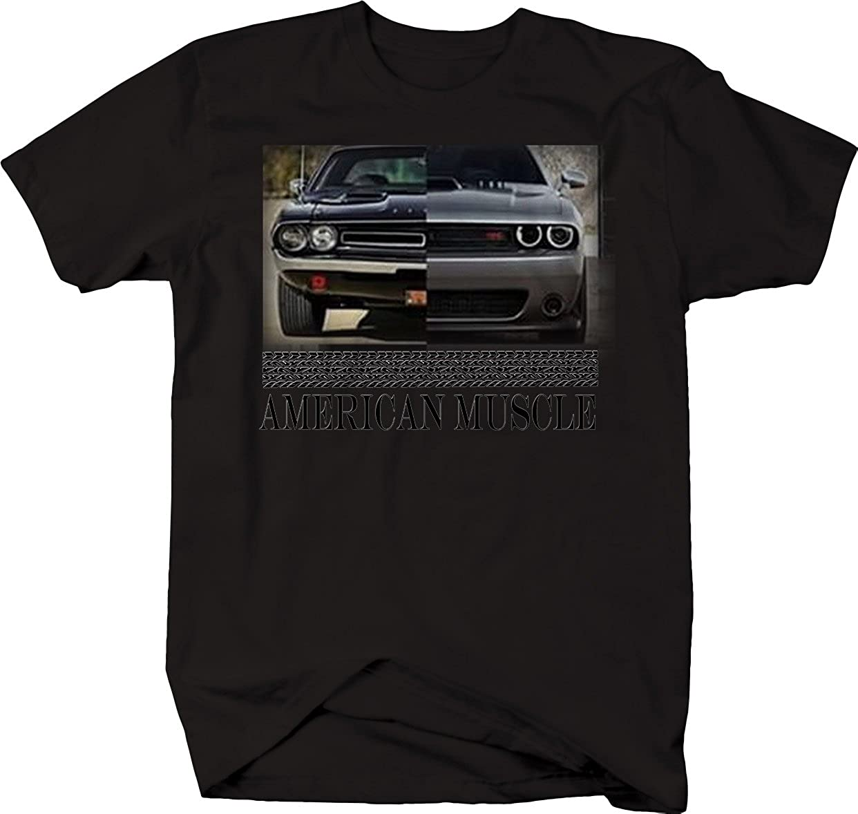 American Muscle Hotrod Challenger Modern /& Classic Racing T Shirt for Men