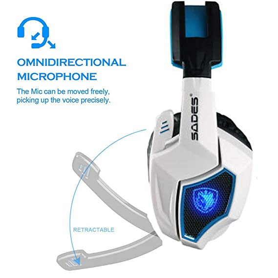 2019 PS4 Gaming Headset Sades Spirit Wolf 7.1 Surround Sound USB Gaming  cuffie stereo con microfono  Amazon.it  Elettronica 957777f2ed76