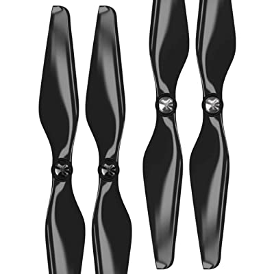 Master Airscrew MAS Upgrade Propellers for DJI Phantom with Built-in Nut in Black - x4 in Set: Toys & Games