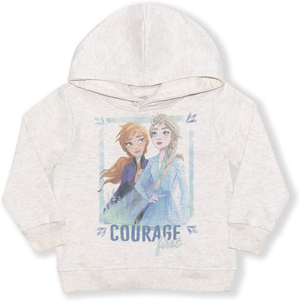 Disney Frozen Little Girls Elsa and Anna Hooded Top and Leggings Set