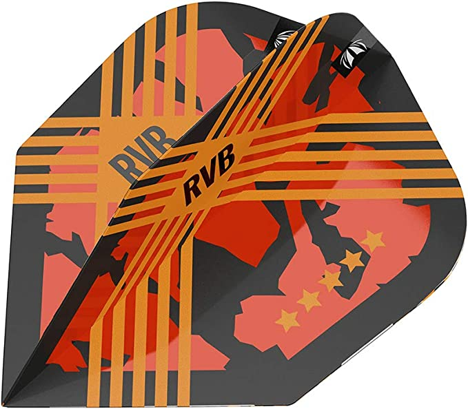 Vision Ultra White /& Orange No6 Sha Target Raymond van Barneveld Dart Flights