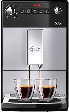Melitta Purista F230-101, Cafetera Automática con Molinillo Silencioso, 15 Bares, Café en Grano, Limpieza Automática, Personalizable, Plata: Amazon.es: Hogar