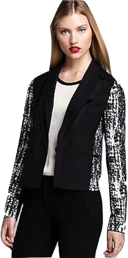 Diane Von Furstenberg Black Olena Combo Blazer 2