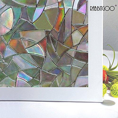 Rabbitgoo Superior No-Glue 3D Static Illuminative Window Films,1.5Ft X 6.5Ft.(45 x 200Cm)