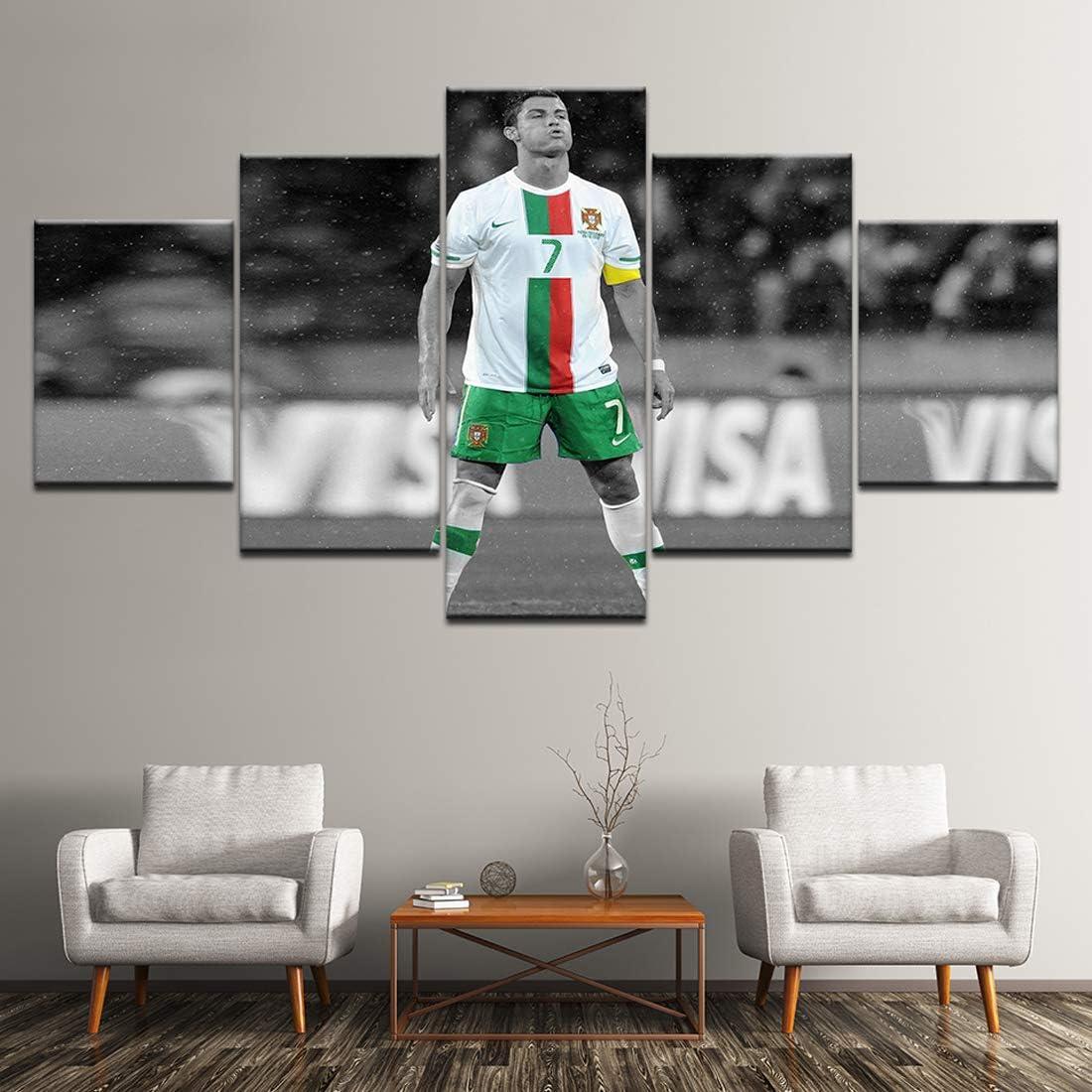Angle&H 5 Piezas Modular Futbolín Mural Cristiano Ronaldo Cartel ...