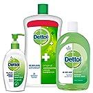 Dettol Sanitizer Original - 200 ml with Handwash - 900 ml and Multi Hygiene - 500 ml