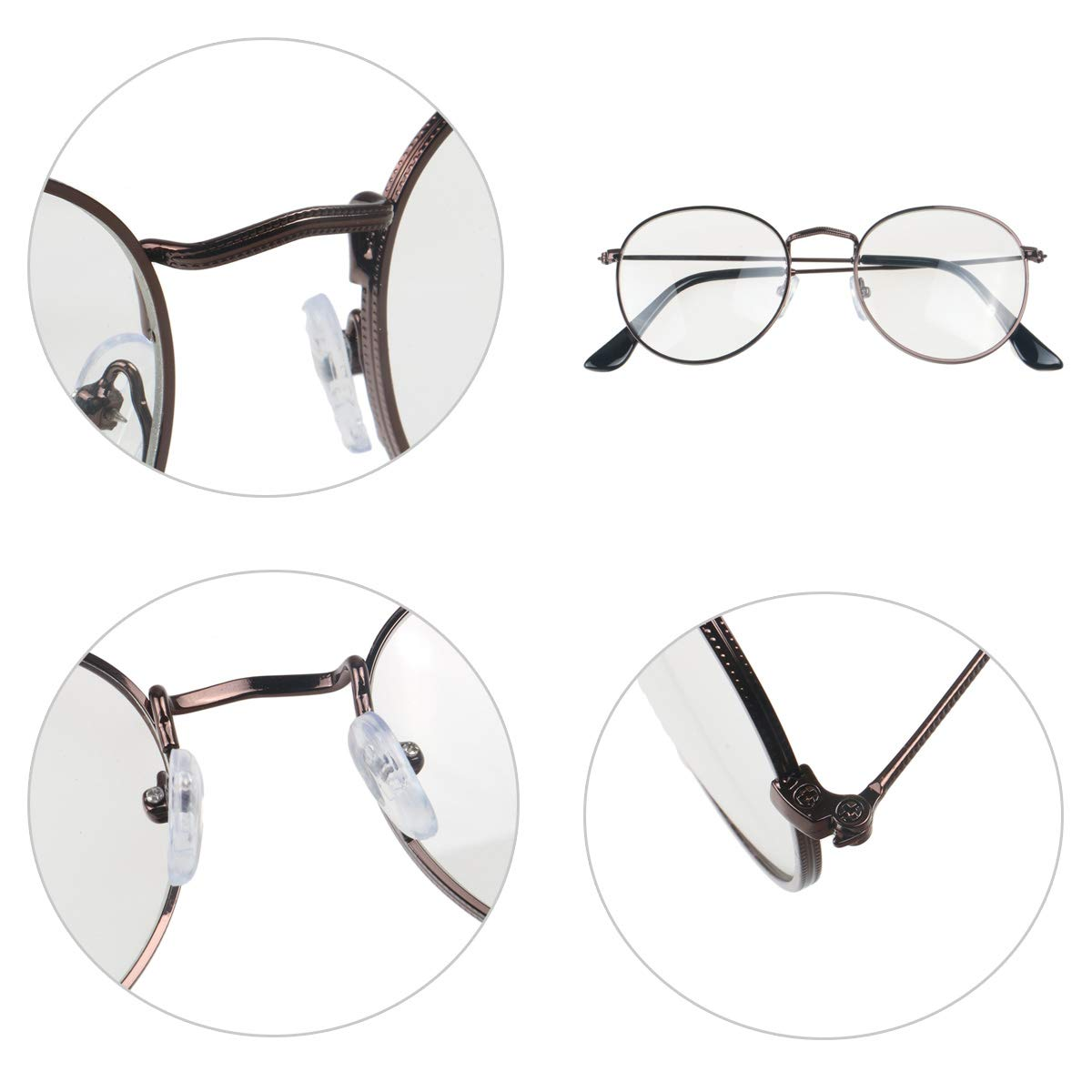 3520f44c472a Simvey Classic Vintage Round Circle Metal Glasses Frame Clear Lens   Amazon.ca  Clothing   Accessories