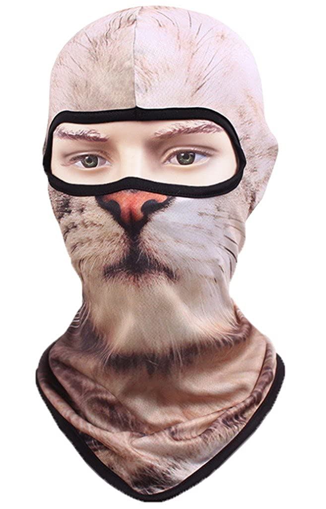 AOYOMO Unisex Outdoor Sunproof Quick-Dry Animal Face Mask Cover Balaclava 180702HH098