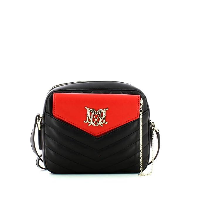 Borsa tracollina clutch in ecopelle nera Love Moschino Colore Nero
