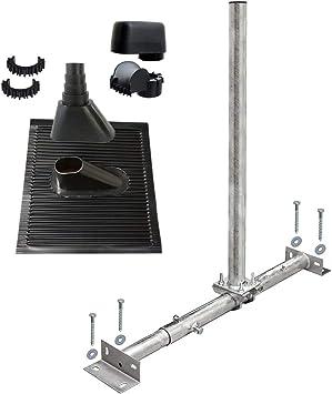 PremiumX Soporte para vigas de techo, antena parabólica, set ...