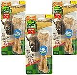 (3 Pack) Nylabone Healthy Edibles Wild Bison Dog Treat Bones - Size Large, 4.9 Oz Each