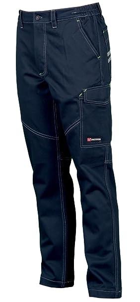 Pantaloni da Lavoro in Cotone 100% Multi Stagione vestibilità Regular  Tasche Laterali Portametro Bande Reflex  Amazon.it  Abbigliamento 8bfa8d99ac8