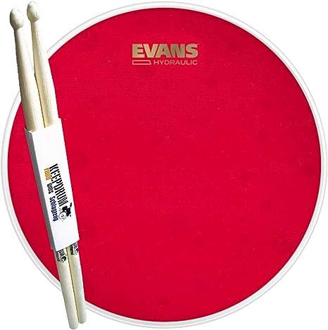 Evans B14HR Hydraulic Red Coated - Parche de caja (14