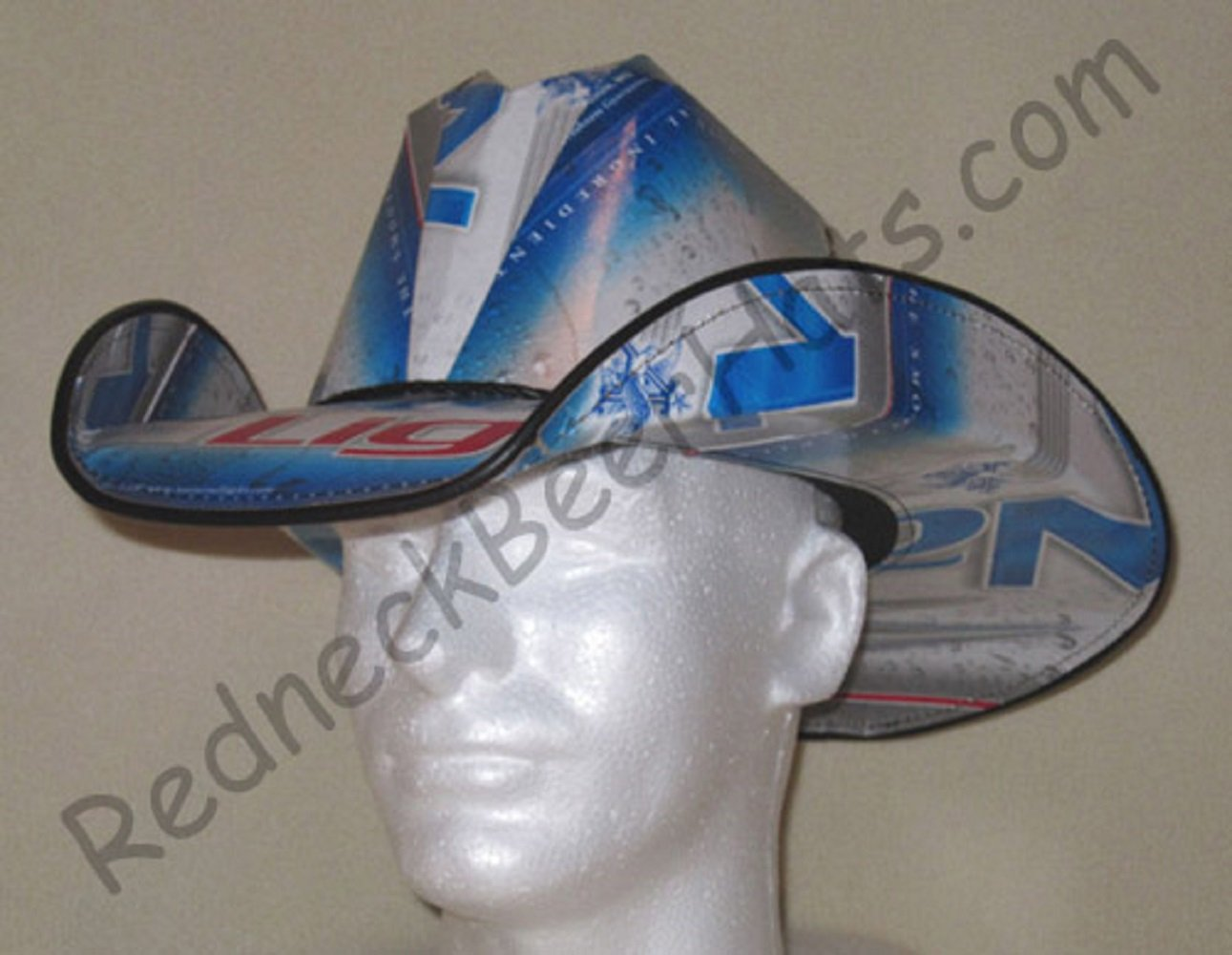 Cowboy Hat Made From Recycled Natural Light Beer Boxes