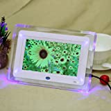 Andoer 7'' HD TFT-LCD Marco Digital de Fotos MP3 MP4 Movie Player con Escritorio Remoto Blanco