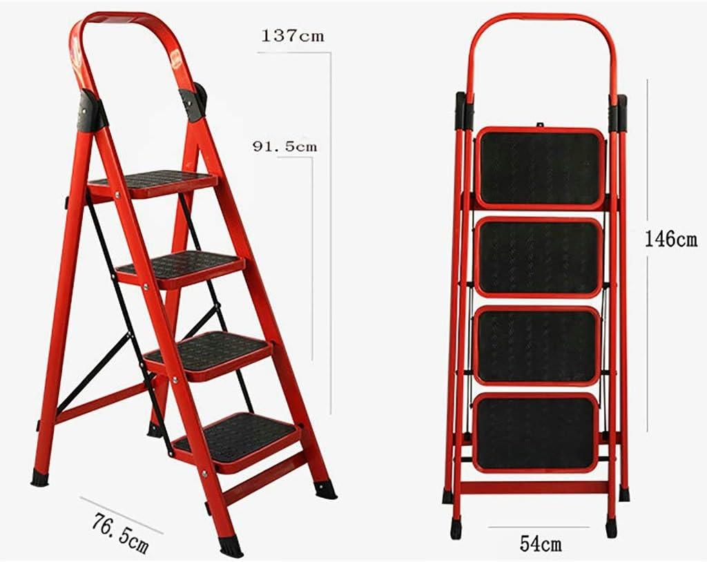 Escaleras Escalera de 4 escalones, empuñadura de goma pedal Pedal antideslizante, Escalera de tijera plegable Herramienta de jardín for el hogar Bricolaje, Escalera de tijera, Extensión extendida, Tab: Amazon.es: Bricolaje y herramientas