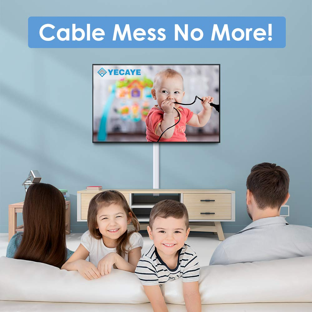 250'' Upgrade Cable Concealer - On-Wall Cord Cover Raceway Kit - 16 Cable Covers - CMC-02 Large Wire Hider - Paintable Cable Management Channel for Wall Mounted TV - L15.7 inch, W1.18 H0.6 inch, White by Yecaye (Image #2)