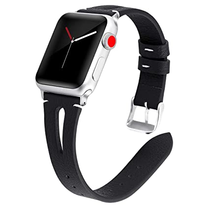 Amazon.com  Kaome Leather Band Compatible for Apple Watch Band 40mm ... 846975c0de