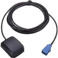 Vecys Antena GPS Fakra 1575,42 MHz Adaptador Fakra C Recto 28DBi con 3 m GPS para Coche Antena Fakra Base Magnética para…
