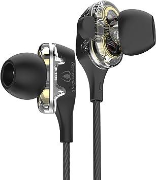Auriculares In-Ear Diseño translúcido de Beexcellent, Doble Efecto ...