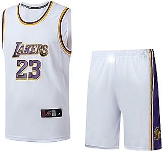 MAZO-SPORT Abito da Jersey di New Jersey di Ricamo di Pallacanestro con Ricamo New Jersey di New Season Lakers