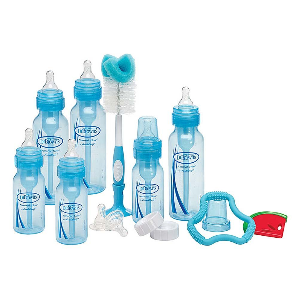 Dr.brown's Gift Set Blue Bottle Gift Set Bottle, Accessories and Teethers Model Drb984