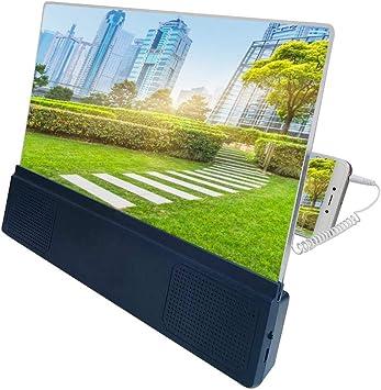 12 Lupa De Pantalla para Teléfono, 3D HD Pantalla Teléfono con ...