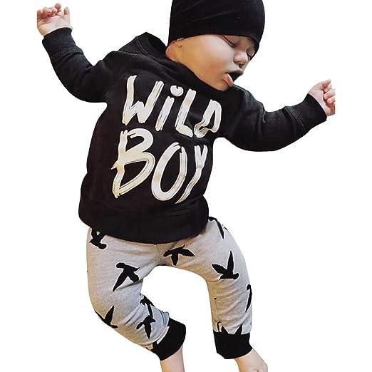 5413b4c2 Amazon.com: SUNBIBE👻2PCS Toddler Infant Baby Boys Letter Wild Boys ...