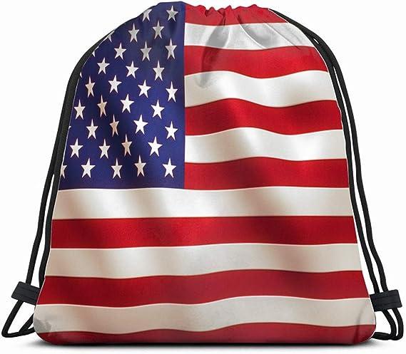 Bandera Estadounidense con Textura de Objetos Bolsa con cordón para Gimnasio, Baile, Mochila Reversible con Lentejuelas para Senderismo, Playa, Viajes, Bolsas: Amazon.es: Equipaje