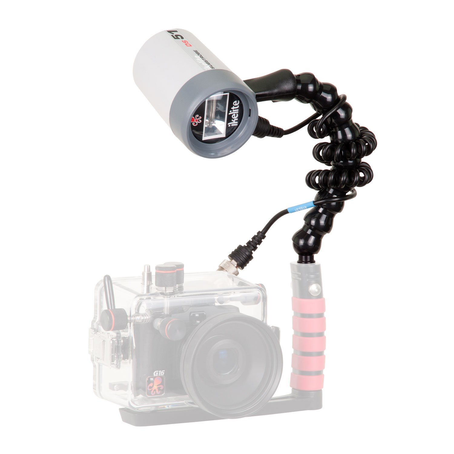 Ikelite 4044.4 DS51 Strobe Flash Package with Flex Arm and TTL Sync Cord (Clear) by Ikelite