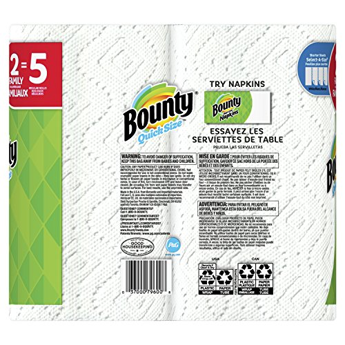 Bounty Select-A-Size Paper Towels, White, 2 Count