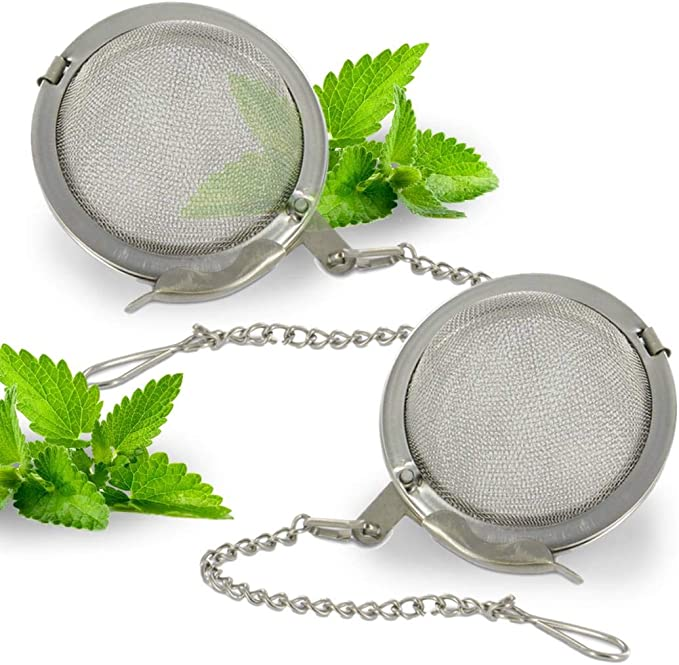 Chamois  Gams 2inch Tea Ball Mesh Infuser Stainless Steel Sphere Strainer A50