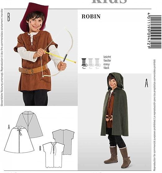 Patrón disfraz niño Robin Hood, Burda 9472: Amazon.es: Hogar