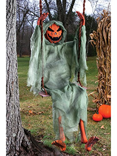 Fun World Unisex-Adult's Swinging Pumpkin, Multi, Standard -