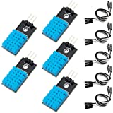 KeeYees 5pcs DHT11 Temperature Humidity Sensor Module Digital SingleBus 3.3V-5V with Jumper Wires for Arduino Raspberry Pi