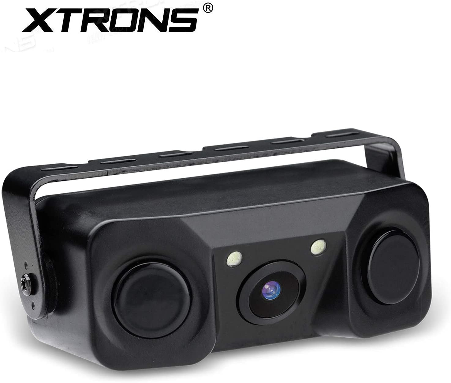 XTRONS 3-in-1 Car Camera with Sensors Wide Angle Reversing Camera with Built-in Parking Sensor Waterproof Parking Aid Radar
