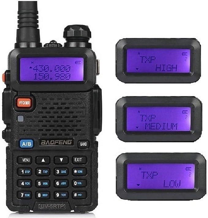 Baofeng UV-5RTP V//UHF Dual Band 2m//70cm Transceiver TriPower 8W HP Two-Way Radio