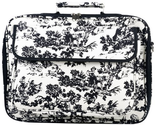 - World Traveler French Toile 17-inch Computer Laptop Case Bag