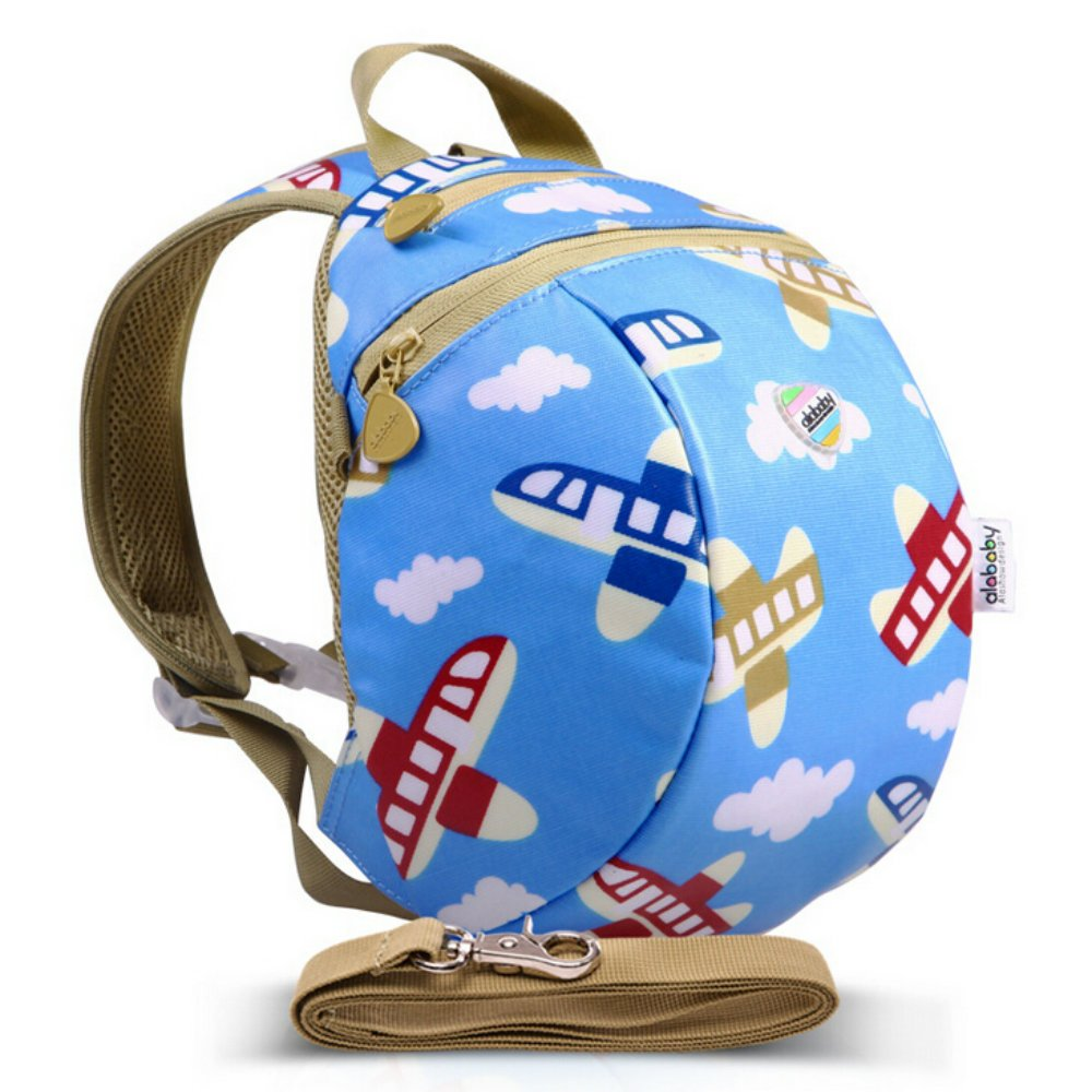 Toddler Safety Harness Mini Backpack with Tether Strap (Airplane)