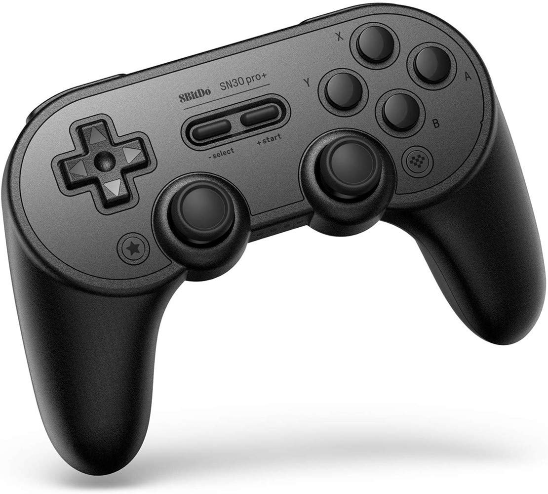 8Bitdo Sn30 Pro+ Bluetooth Gamepad (Sn30 Pro+ Black)-Compatible with Nintendo Switch Windows Android MacOS Steam Raspberry Pi