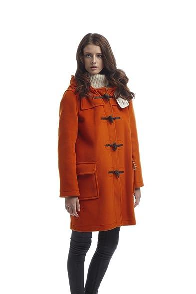 Womens Classic Duffle coats -- Orange: Amazon.co.uk: Clothing