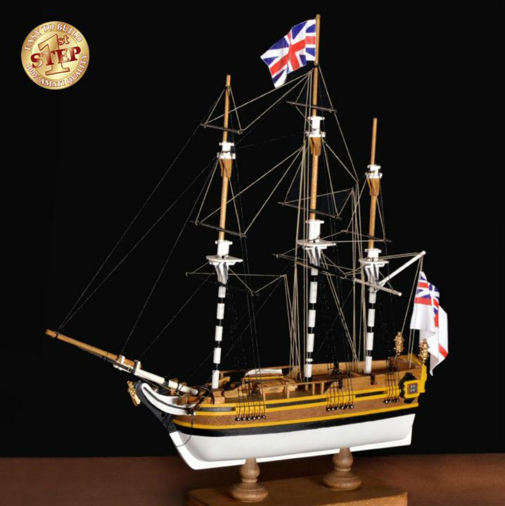 HMS Bounty First Step - Model Ship Kit by Amati