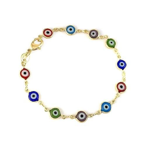 Amazon com: Adult Unisex Gold Filled Charm Bracelet Multi