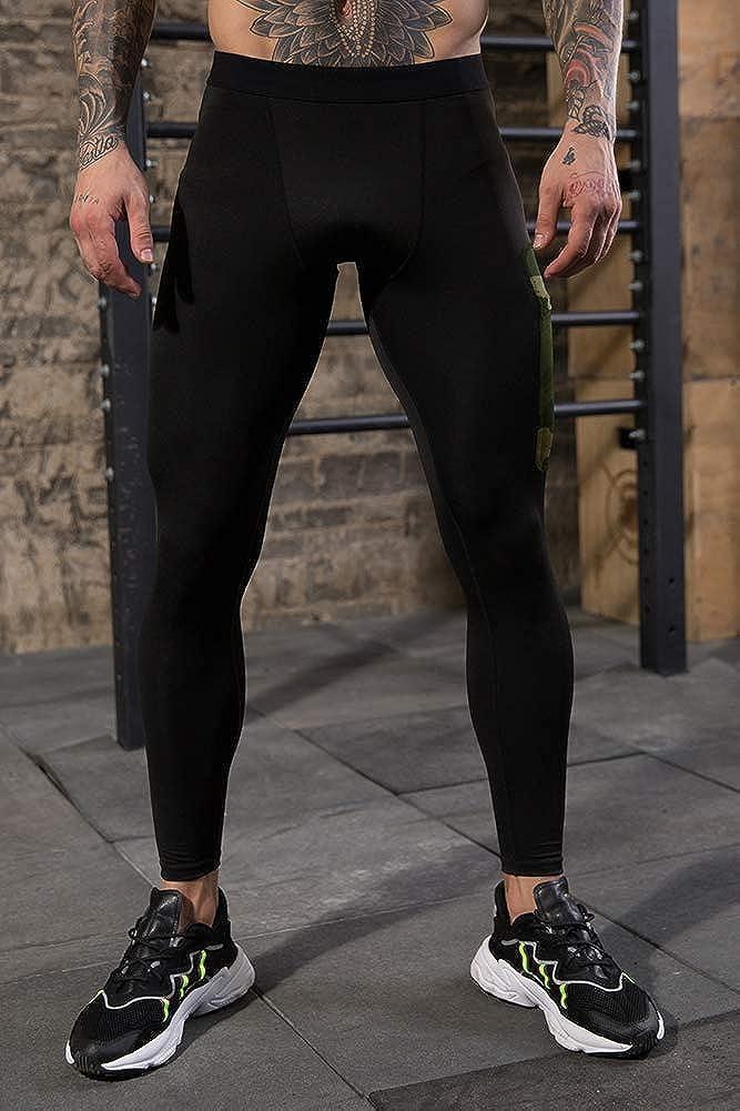 Mallas de compresi/ón para hombre con capa base para entrenamiento y gimnasio VANVENE